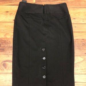 Express button down pencil skirt